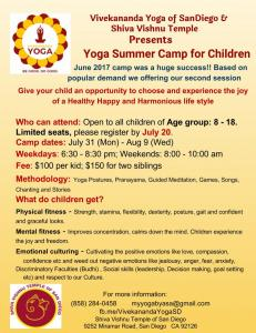 Yoga Camp For Children (july 31 - Aug 9)